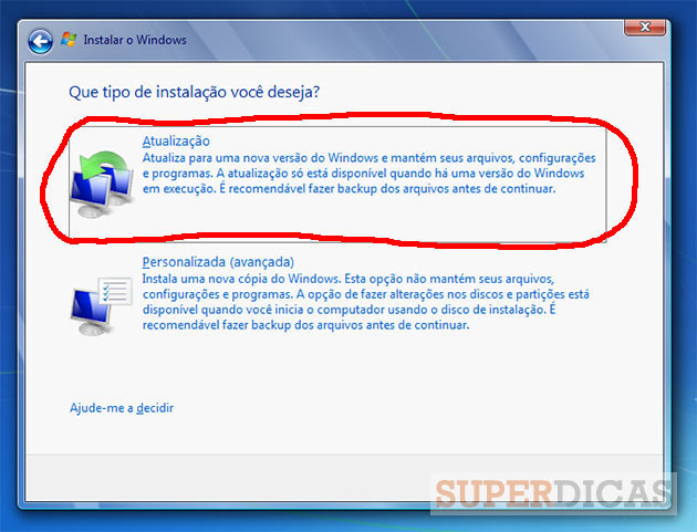 Guia completo para actualizar o Windows XP/Vista para o Windows 7