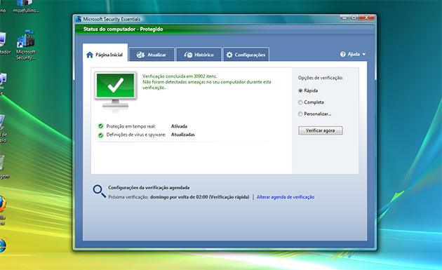 Instala já o anti-virus Microsoft Security Essentials