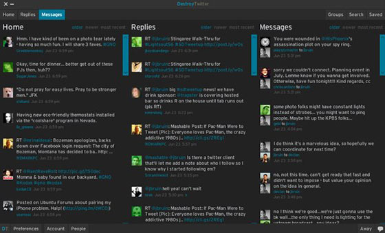 DestroyTwitter - Aplicativo Twitter para Windows