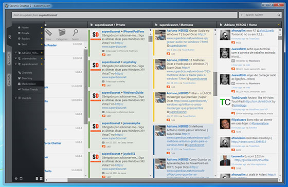 Seesmic - Aplicativo Twitter para Windows