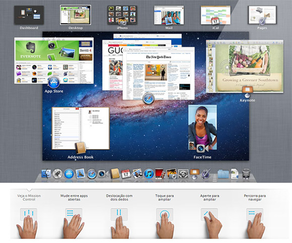 Gestos Multi-Touch - Mac OS X Lion