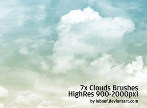 Cloud Photoshop Brushes - Brushes para Photoshop