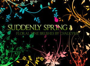 Suddenly Spring Photoshop Brushes - Brushes para Photoshop