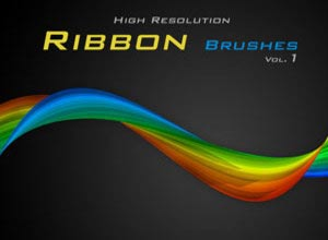 Ribbon Brushes - Brushes para Photoshop