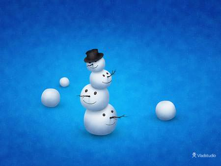 The Merry Snowman - Wallpapers de Natal Fantásticos