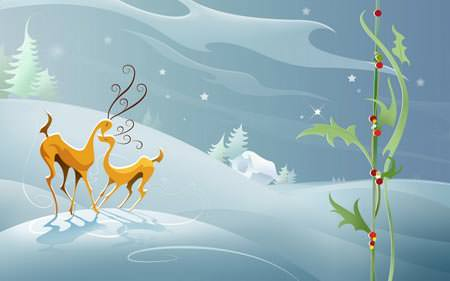 Reindeers Love - Wallpapers de Natal Fantásticos