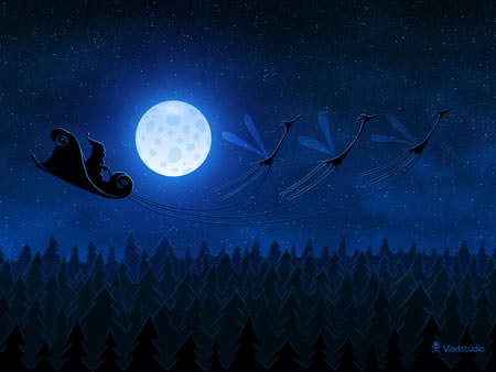 Santa Flying - Wallpapers de Natal Fantásticos