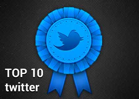 Twitter TOP 10 Famosos Populares
