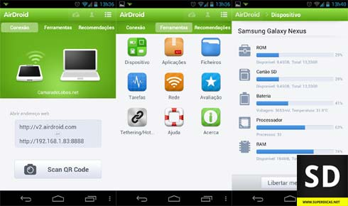App AirDroid para smartphones Android