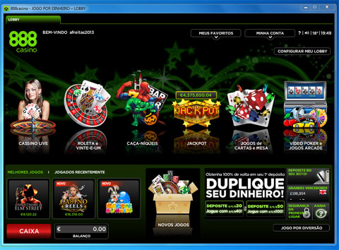 Lobby do Casino Online 888