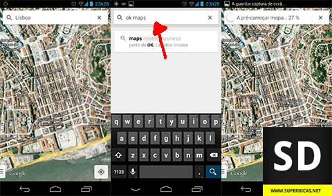 Guardar os Mapas do Google Maps no Android