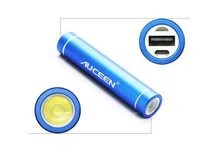 power bank auceen real 2600mah + Flashlight